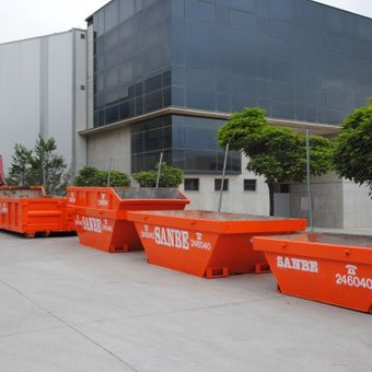 Grúas Containers Sanbe contenedores